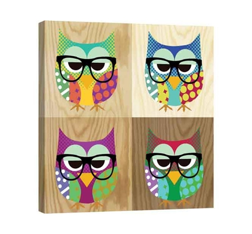 Picture of 4 OWLS WALL ART