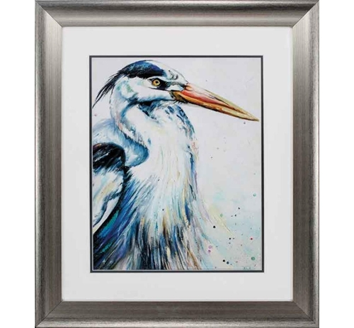 Picture of BLUE HERON I WALL ART