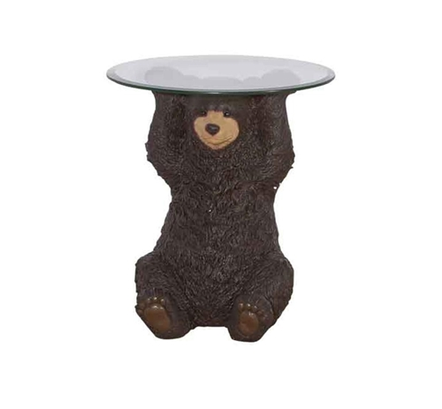 Picture of BEAR SIDE TABLE & GLASS TOP