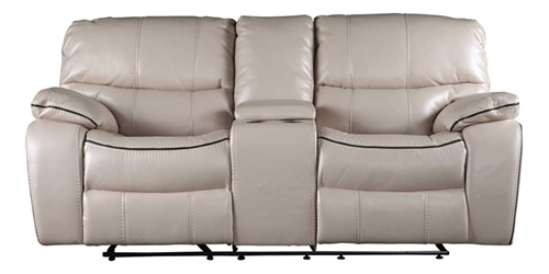 Picture of HAMILTON CREAM GLIDING CONSOLE LOVESEAT