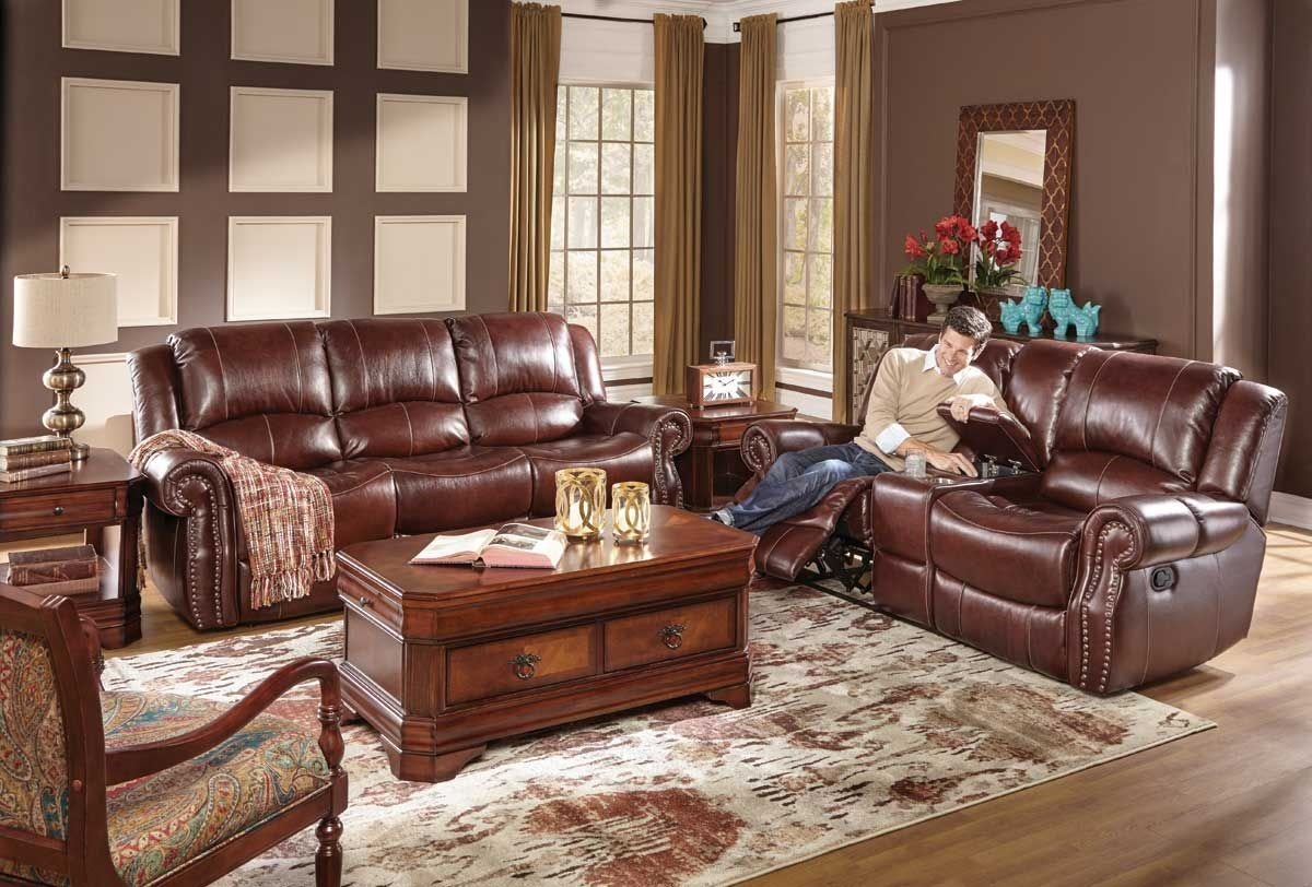 Living Room Reclining Sofas Becky Grey Leather Recliner