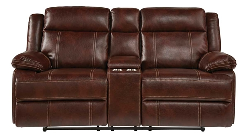 Picture of SADDLE RECLINING CONSOLE LOVESEAT