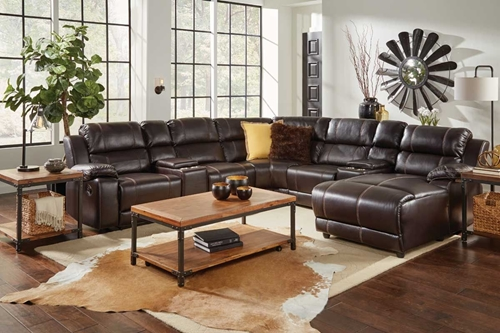 Picture of BRISTOL 8 PC SECTIONAL W/ RAF PRESSBACK CHAISE
