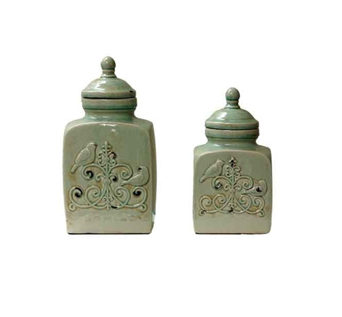 Picture of FRENCH BIRD LIDDED JAR SET