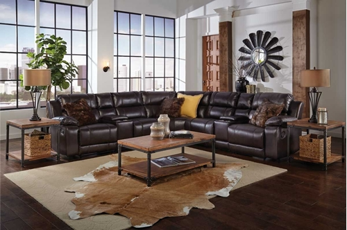 Picture of BRISTOL 8 PC SECTIONAL W/RAF RECLINER