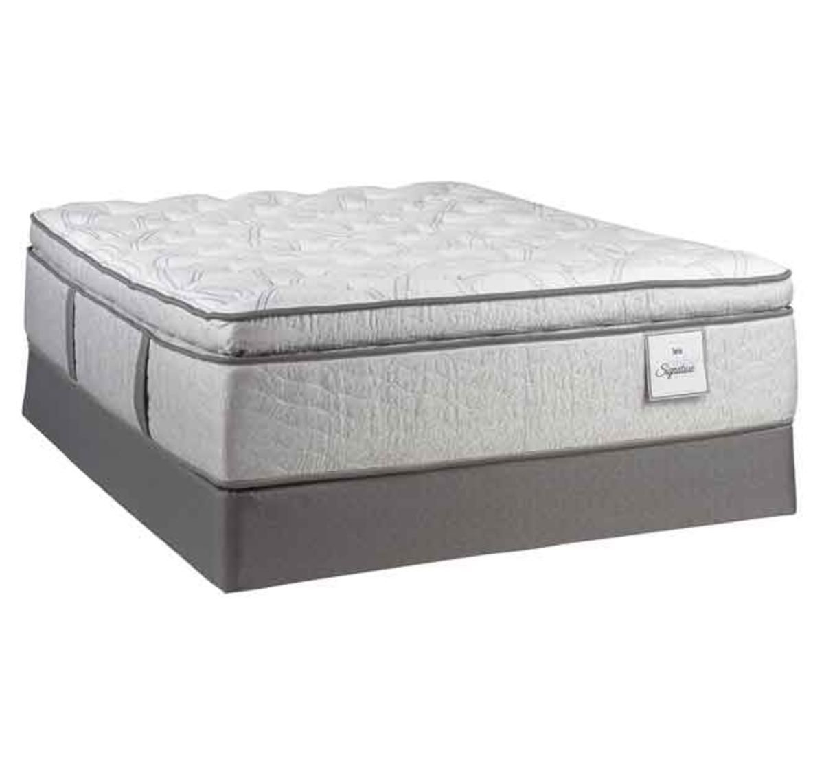 serta century signature imperial paradise twin xl mattress set badcock more. Black Bedroom Furniture Sets. Home Design Ideas
