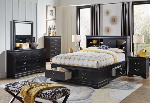 Picture of Carrington II 5 Pc King Storage Bedroom Group