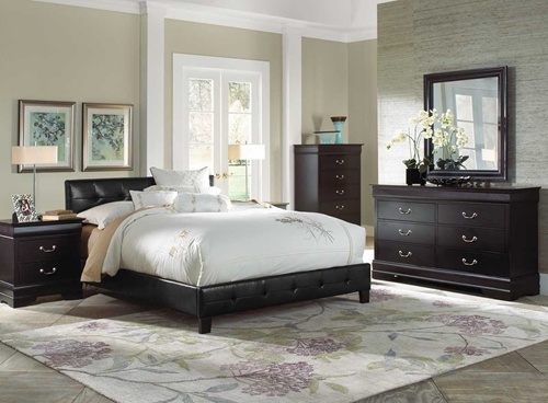 Picture of CARRINGTON II 5 PC KING UPH BEDROOM GROUP
