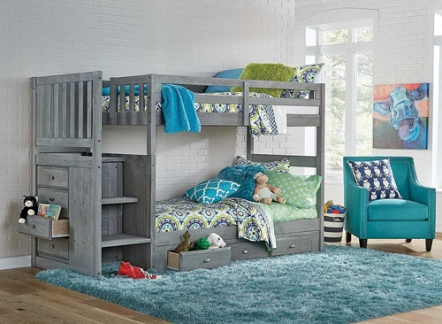 Picture of Madison Grey Twin StairBed