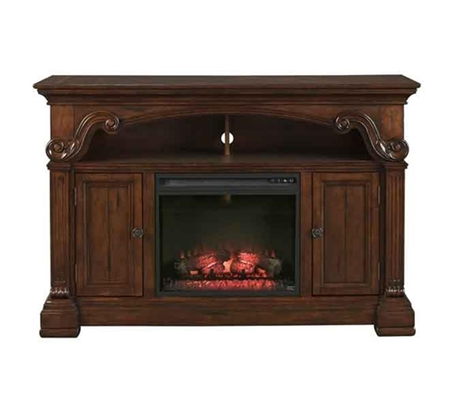 "Picture of CLEVELAND 63"" TV CONSOLE W/ FIREPLACE"