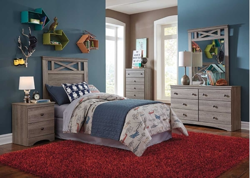 Picture of CARSON 4 PC TWIN YOUTH BEDROOM GROUP