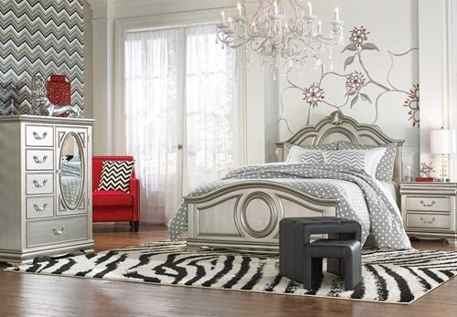 Picture of GRACE SILVER 5 PC FULL BEDROOM