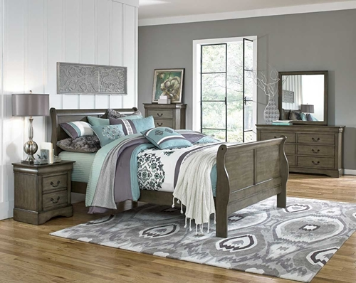 Picture of LEWISTON GREY 5 PC TWIN BEDROOM GROUP