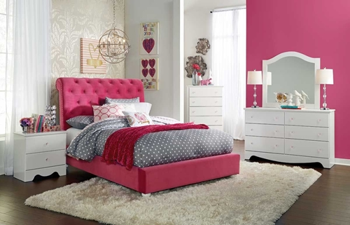 Picture of PENELOPE 5 Pc Twin Upholstered Bedroom