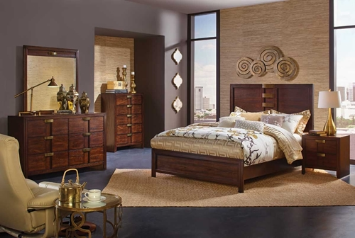 Picture of DIPLOMAT 5 PC QUEEN PANEL BEDROOM GROUP