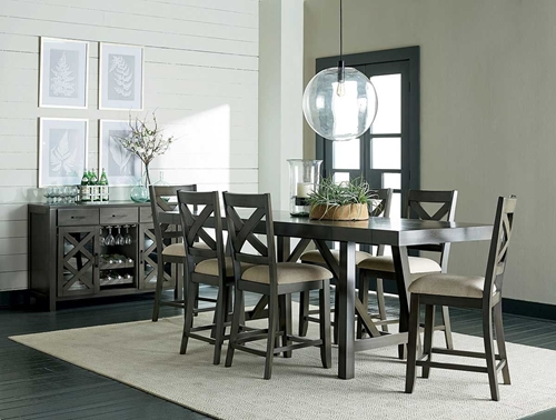 Picture of DALLAS GREY 5 PC COUNTER DINING SET