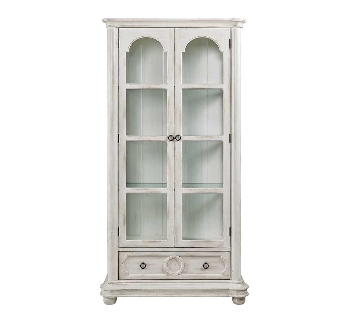 Picture of ANTIQUE WHITE CURIO CABINET - Antique White Curio Cabinet Badcock &more