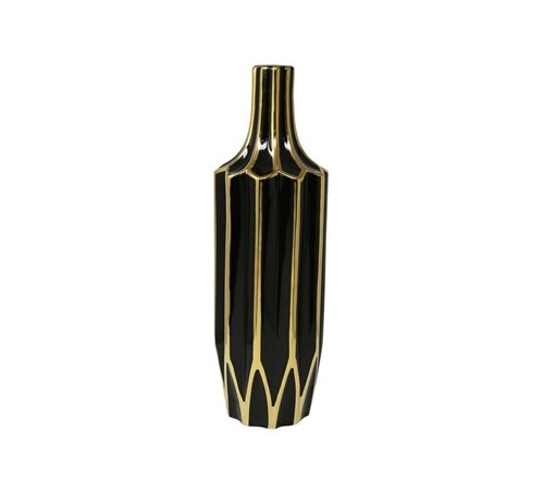 Picture of BLACK/GOLD VASE CONTEMPORARY