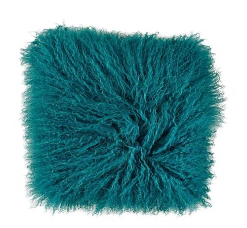 Picture of BLUE MONGOLIAN FUR THROW PILLOW