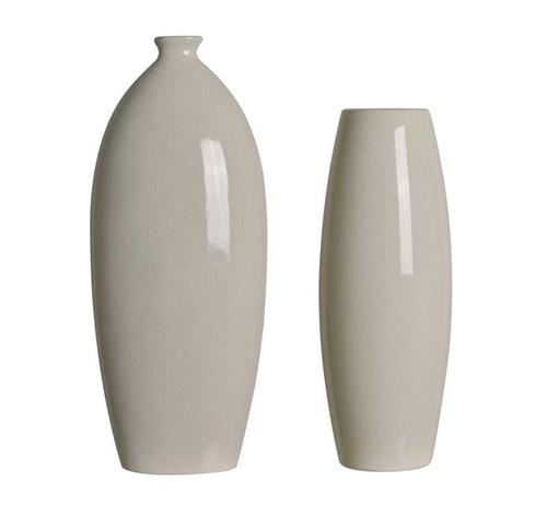 Cream Crackle Vase Set Badcock More