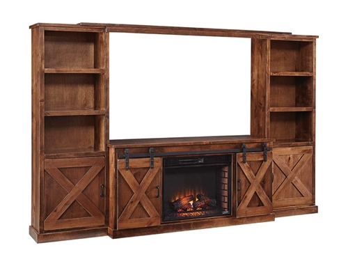 Picture of FARMHOUSE FIREPLACE COMPLETE WALL UNIT