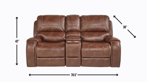 Picture of WAYLON RECLINING CONSOLE LOVESEAT