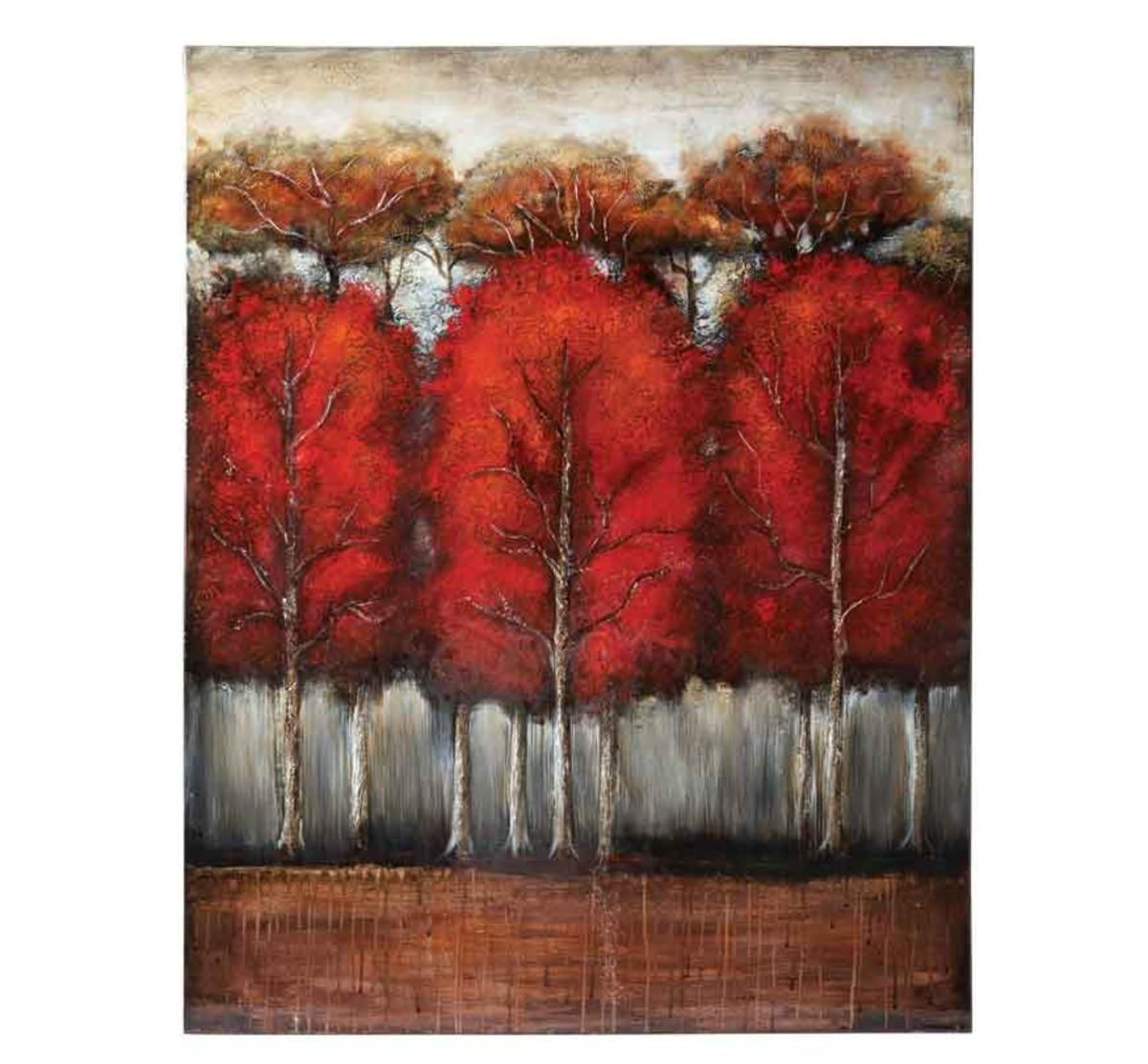 Picture of RED TREES WALL ART