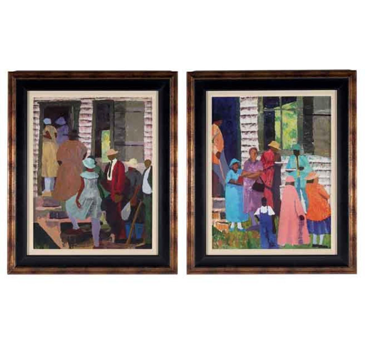 Picture of GOING TO CHURCH WALL ART SET