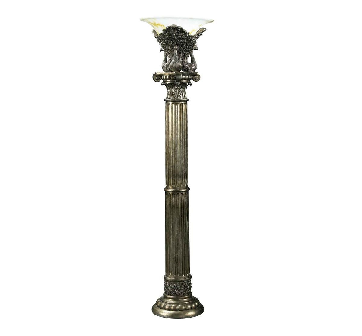 Picture of TRADITIONAL PEACOCK FLOOR LAMP