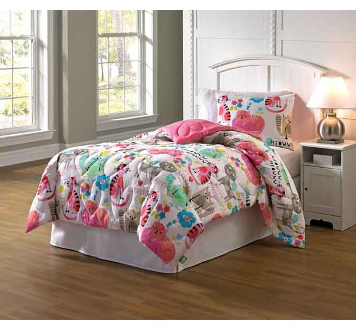 Picture of PURRTY CAT 2 PIECE TWIN LINEN SET