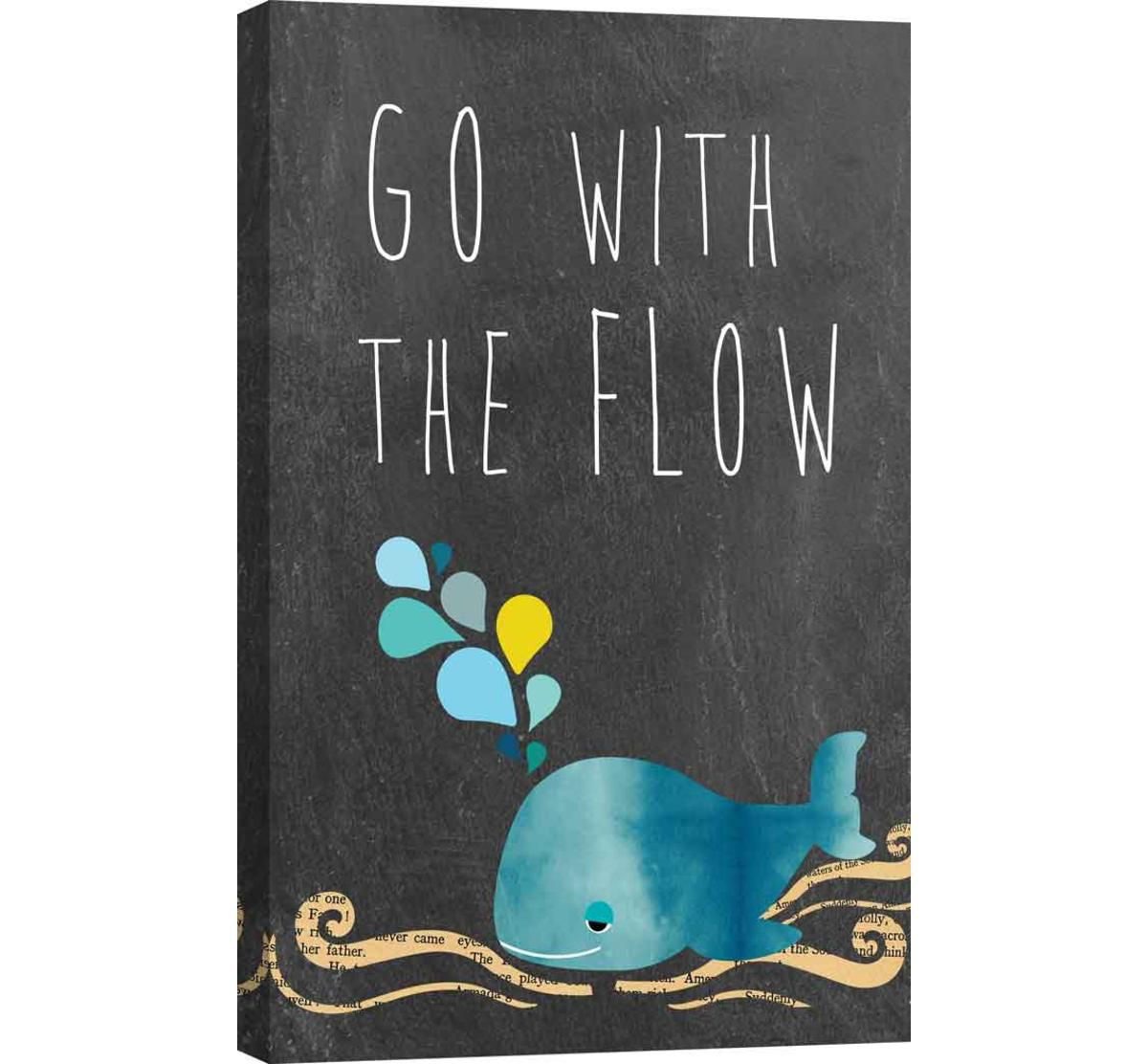 Picture of GO WITH THE FLOW WALL ART