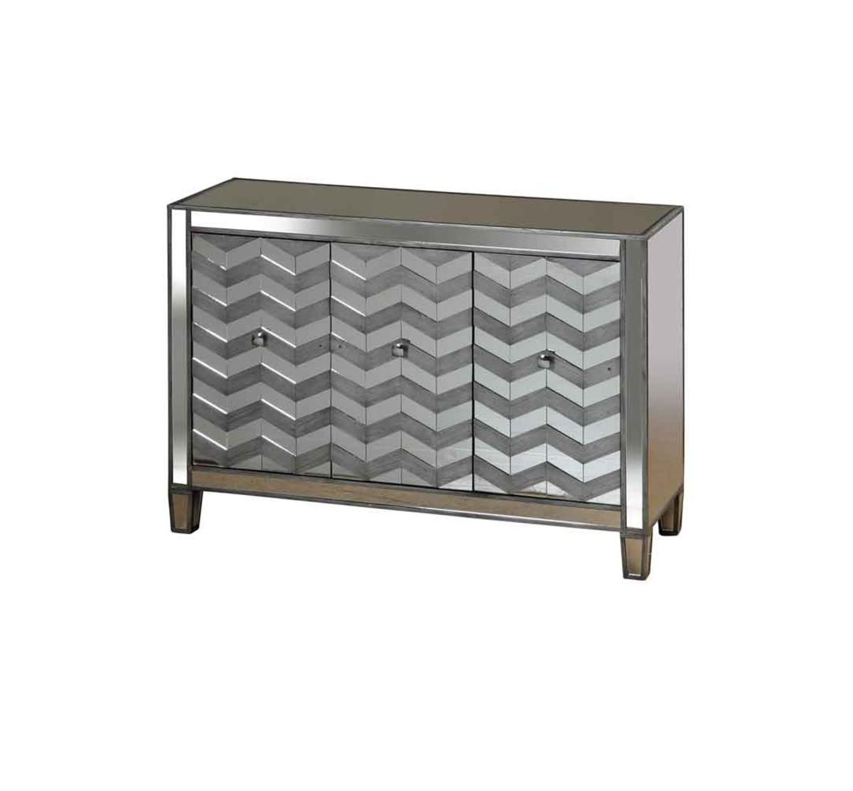 Picture of CHEVRON ACCENT CABINET