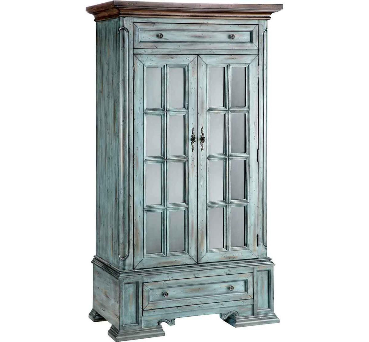 Picture of WEATHERED CURIO CABINET