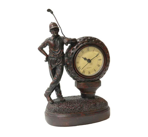 Picture of TRADITIONAL GOLFER TABLE CLOCK