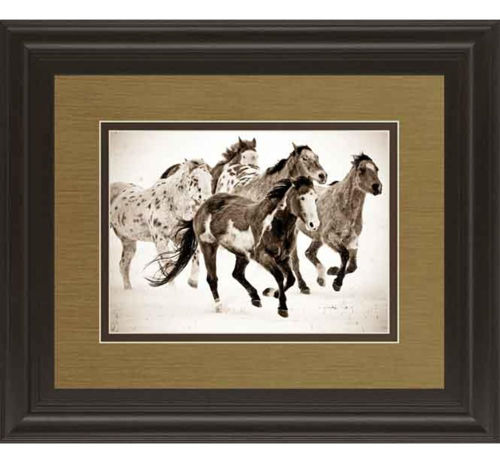 Picture of PAINTED HORSES RUN WALL ART