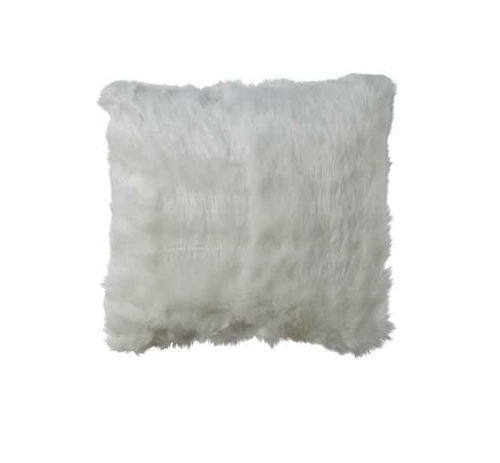 Picture of WHITE FAUX MINK ACCENT PILLOW