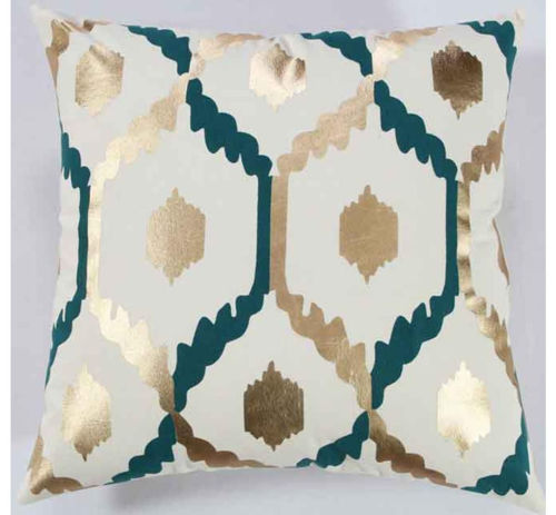 Picture of TEAL & GOLD ACCENT PILLOW