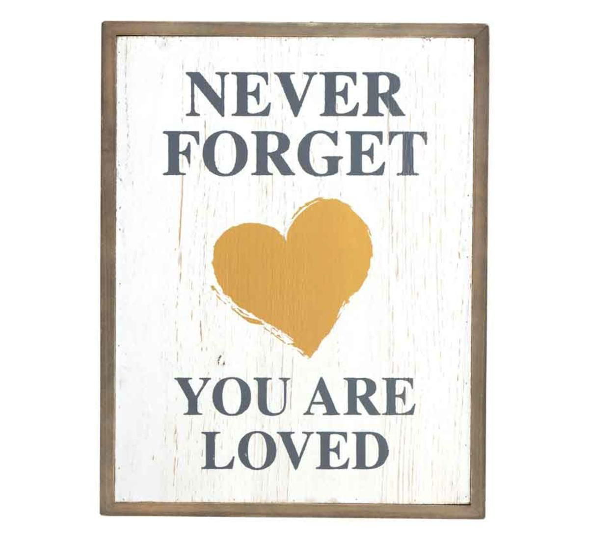 Picture of NEVER FORGET YOU ARE LOVED WALL ART