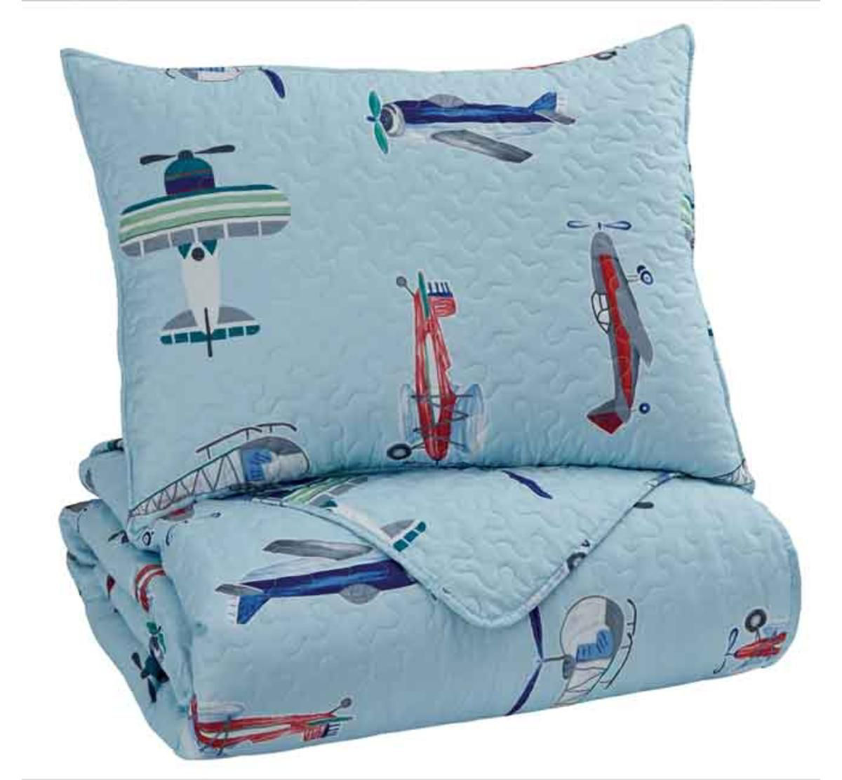 Picture of AIRPLANE 3 PIECE FULL LINEN SET