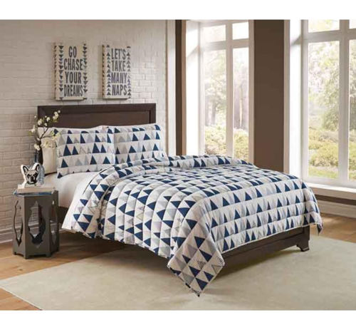 Picture of BLUE 3 PIECE FULL/QUEEN LINEN SET
