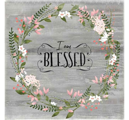 Picture of I AM BLESSED WALL ART