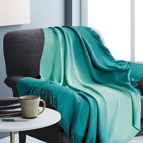 Picture of OMBRE TEAL THROW BLANKET