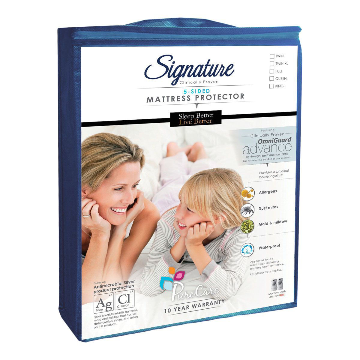 Picture of SIGNATURE 5-SIDED QUEEN MATTRESS PROTECTOR