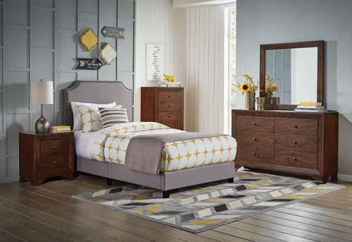 Picture of SHADES II TWIN UPHOLSTERED BED