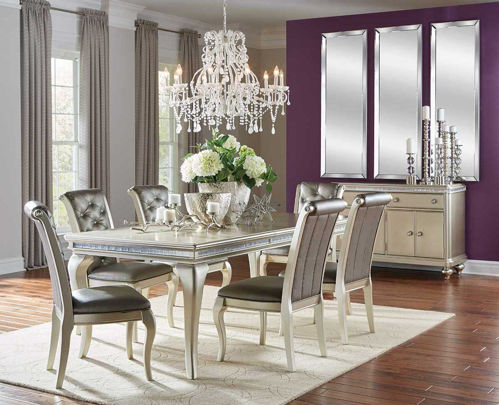 Picture of SILVER GLAM 5 PIECE DINING SET