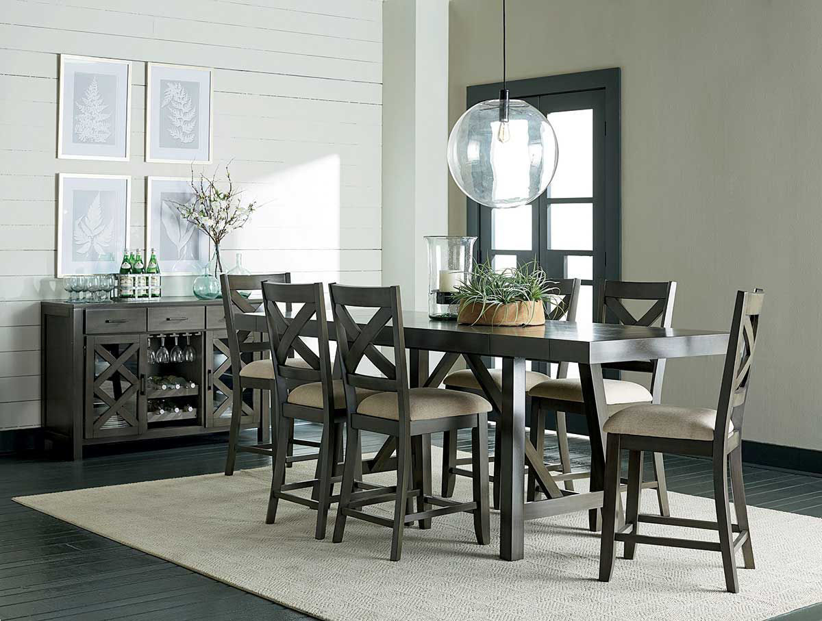 Dallas Grey 5 Pc Counter Dining Set Badcock Home Furniture More