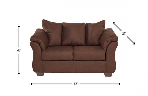 Picture of EMMA CHOCOLATE LOVESEAT