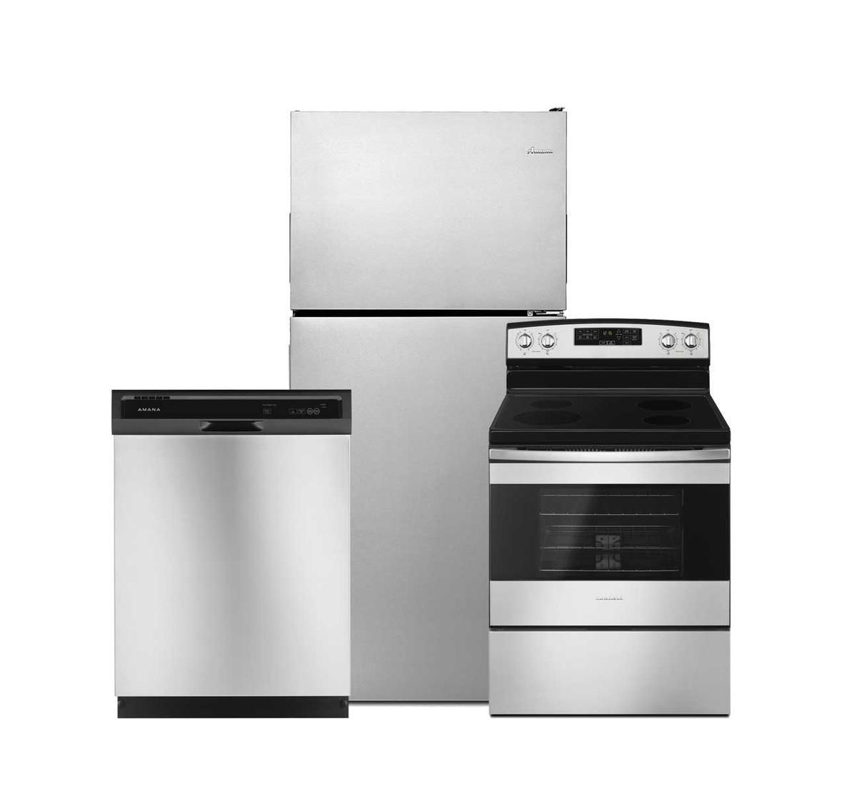 Picture of AMANA 3 PIECE SS TOP MOUNT APPLIANCE PACKAGE