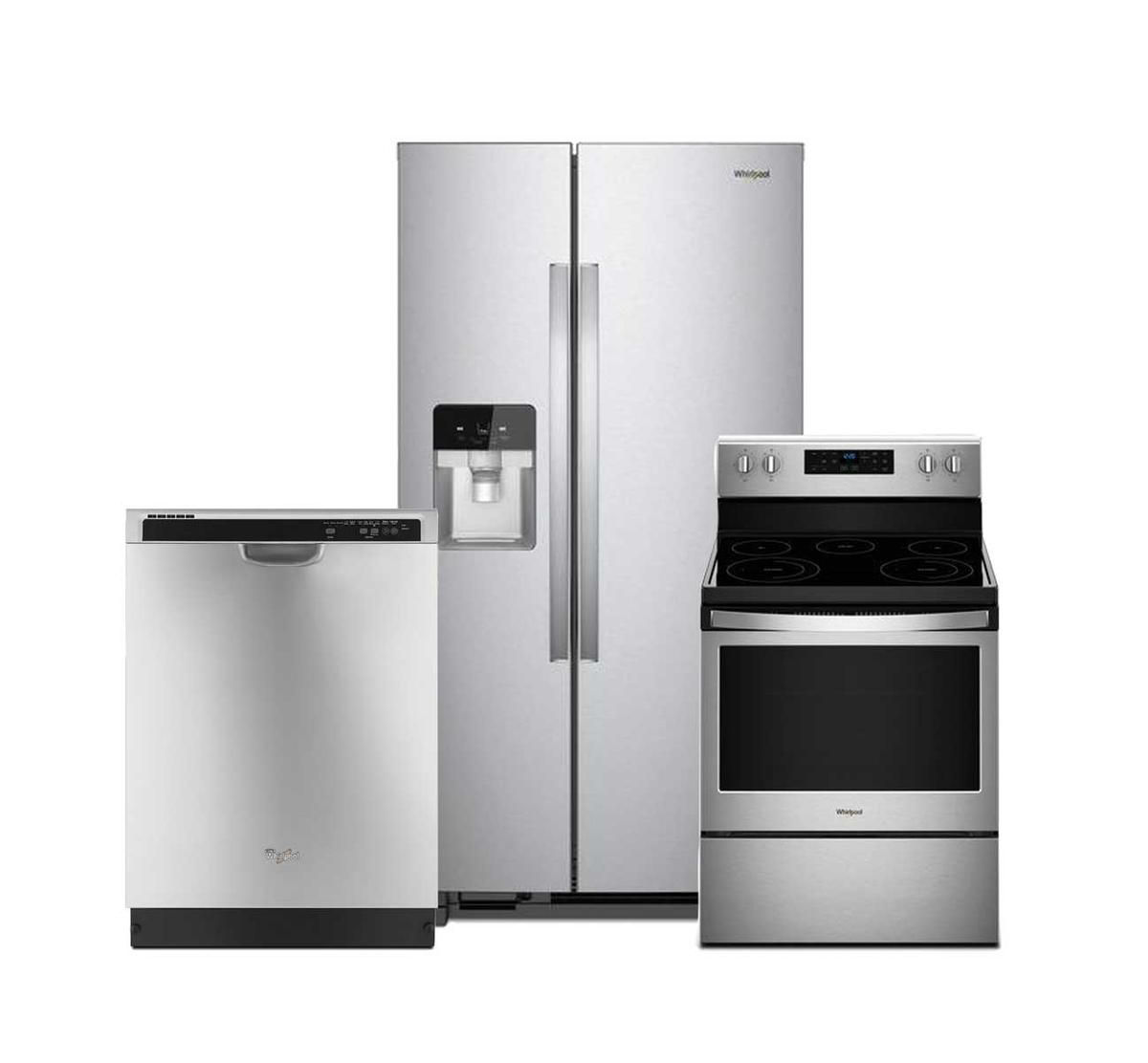 Picture of WHIRLPOOL 3 PIECE STAINLESS STEEL PACKAGE