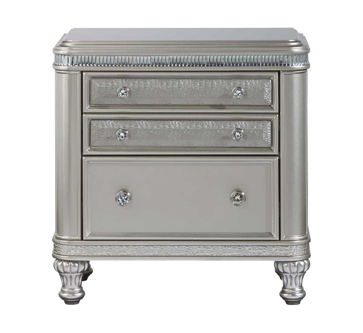 Picture of SILVER GLAM NIGHTSTAND